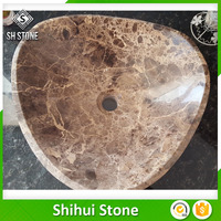 Best selling white marble table top sink With Long-term Service