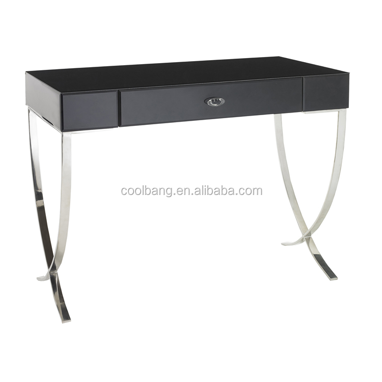 High quality wrought iron mirrored dressing table with drawer