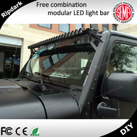 Ripdark patented product Single row 24 vlot Powerful 10w led light bar, 250w off road bezel ring 4x4 led driving light bar
