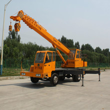 10 Ton Mobile Crane with 5 Section Telescopic Boom Mounted on Foton Truck