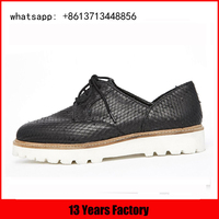 special genuine leather L-welt lace french binding drily shoes wholesale casual sole eva foam shoes