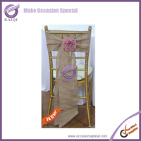 19138 Burlap Chair Cover Bows For Cheap Wedding Supplies Decoration On Chairs