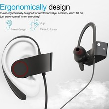 wireless Waterproof Bluetooth Sport Headphones 4.1 Magnetic Earbuds Stereo Earphones Secure Fit for Sports with Built-in