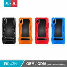 DUZHI luxury 360 anti gravity TPU+carbon fiber PC mobile phone case with metal ring stand holder for iphone x cell phone case