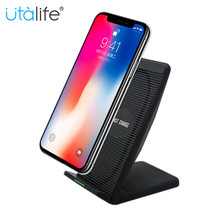 Utalife 10W Fast wireless charger for mobile iPhone X 8 Samsung Note 8 S8 Plus S7 S6 Edge smartphone wind Fan Quick charger N800