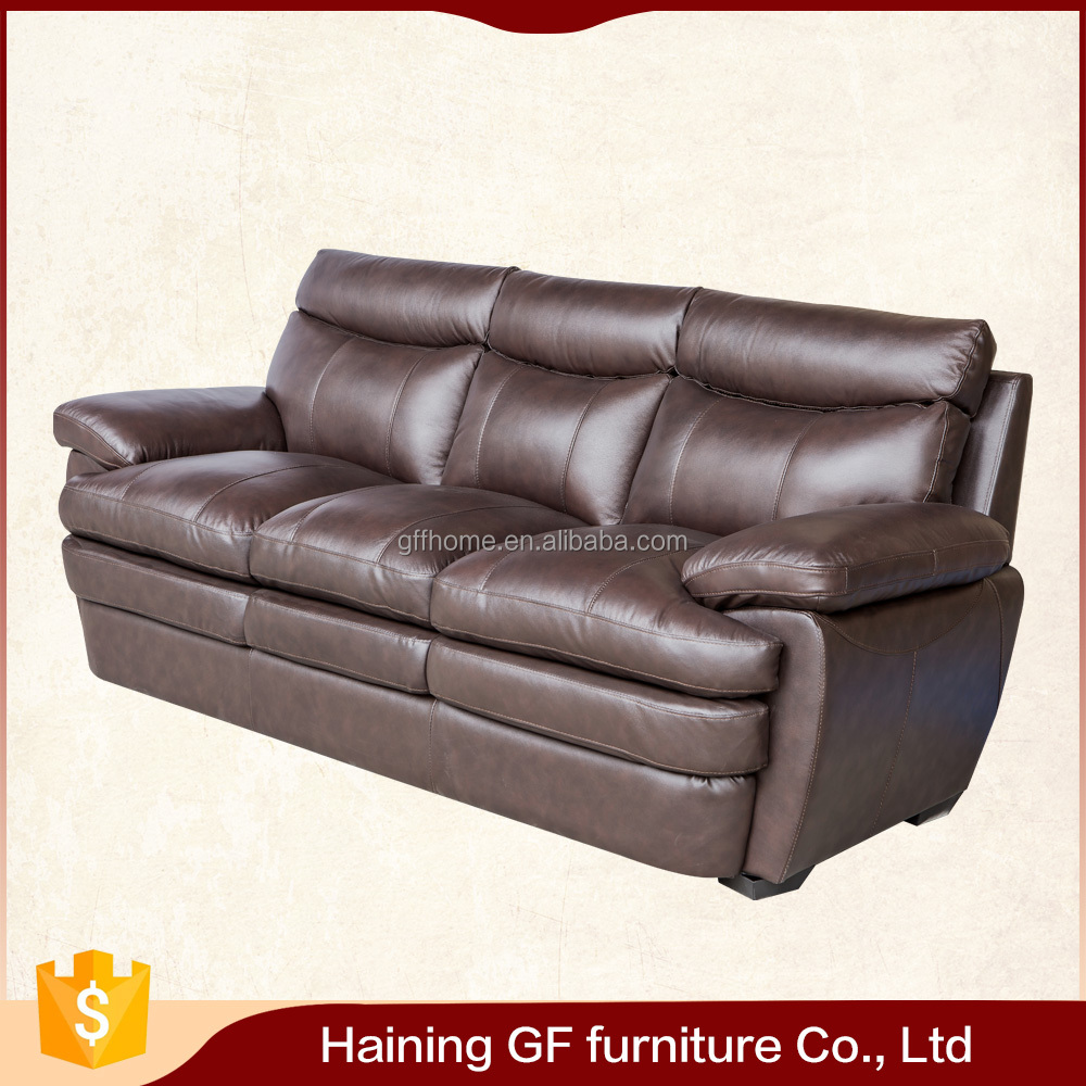 high - density foam seat and fibre - fill back cushions moden style leather sofas