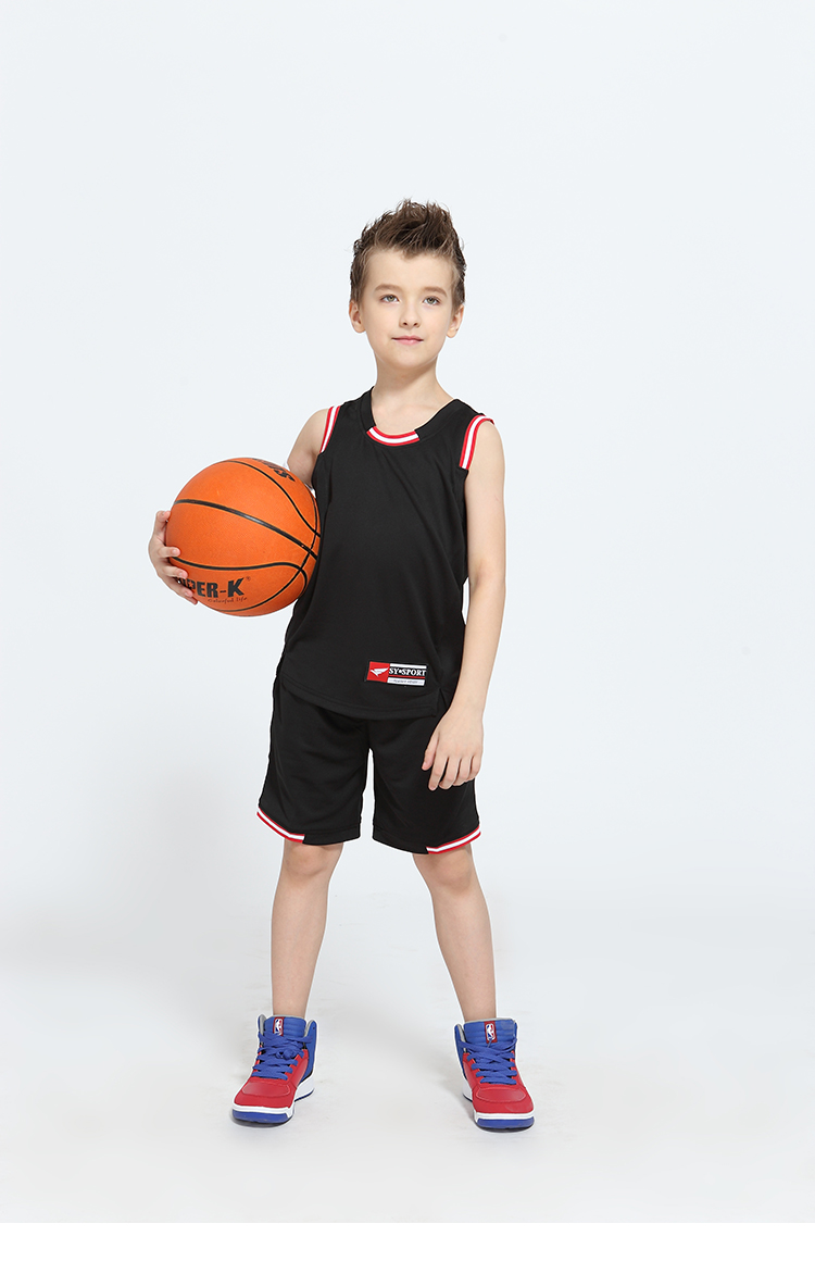 High Quality Wholesale Blank Customized Polyester Logo Sports Basketball Wear Youth Boys School Basketball Jerseys Shorts sets