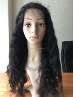 Hot Sale Unprocessed Virgin Elastic Band Brazilian Hair Glueless Lace Front Wig