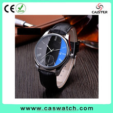 Classic concise design men's watch Japan movement quartz watch with date interchangeable stainless steel leather band wristwatch