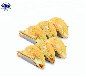 Disposable taco plate holder stand