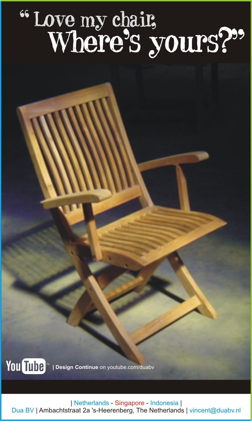 Ergonomic Folding Arm Chair