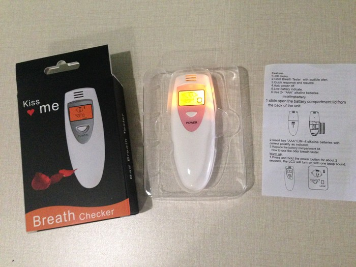 Healthy No-touch design Battery saved design simple and convenient Odor Breath Tester