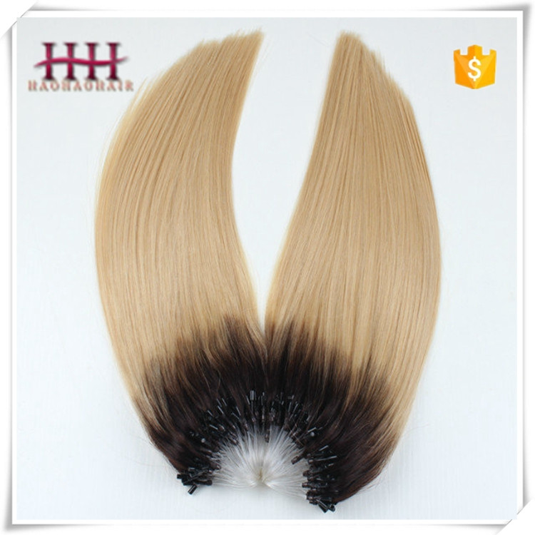 Natural Hair Products Hot Sale Grade 9a Double Drawn virgin remy brazilian micro ring loop hair extensions