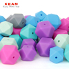 Wholesale BPA Free Food Grade Soft Teething Beads For Jewelry Mixed Silicone Beads
