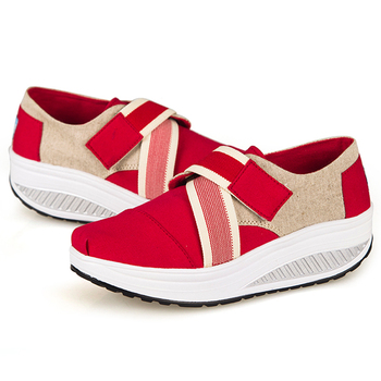 Women Canvas Shoes Buckle Upper Health Shoes Casual Fitness Shoes