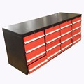 Custom 96 inch Stianless Mechanics Tool Box Cabinet Work Bench