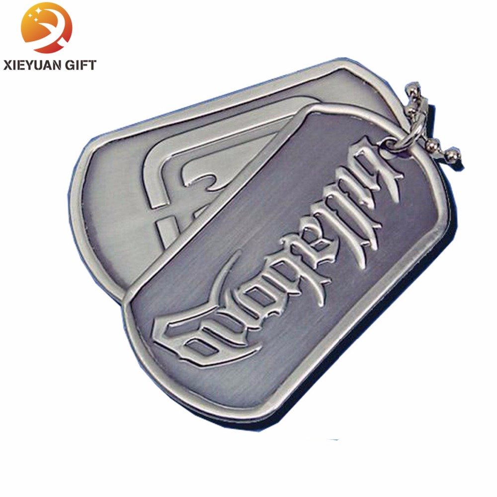 Logo Embossed Metal Dog Tags