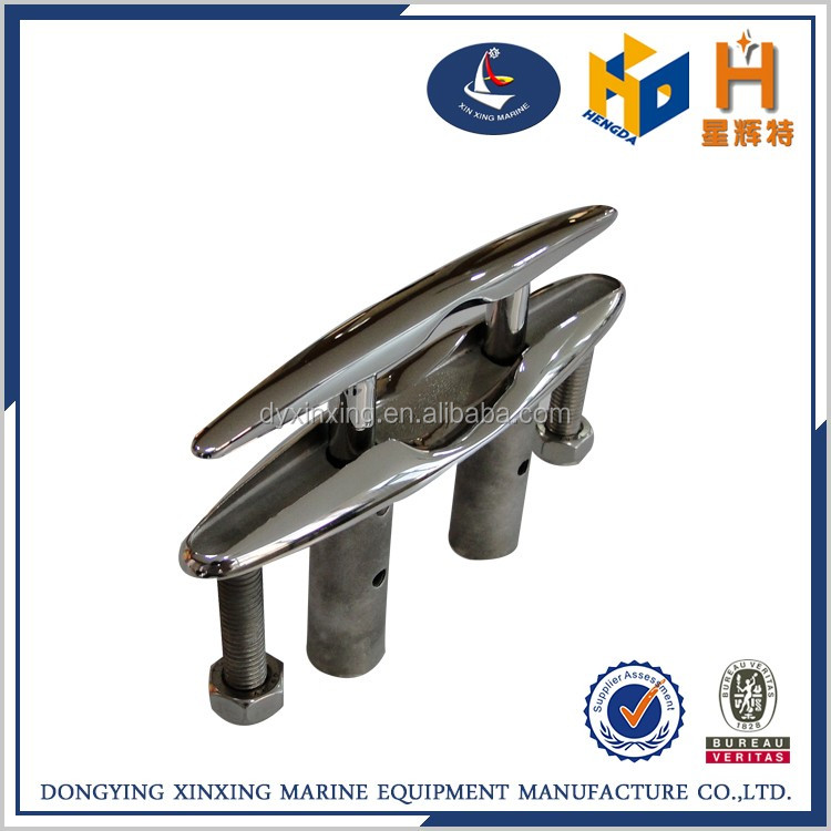 custom size stainless steel boat marine hard ware folding cleats for sale