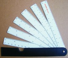 kearing brand engineering scale ruler/ruler with 12different scales,fan scale ruler accurate #8500-6/8500-5
