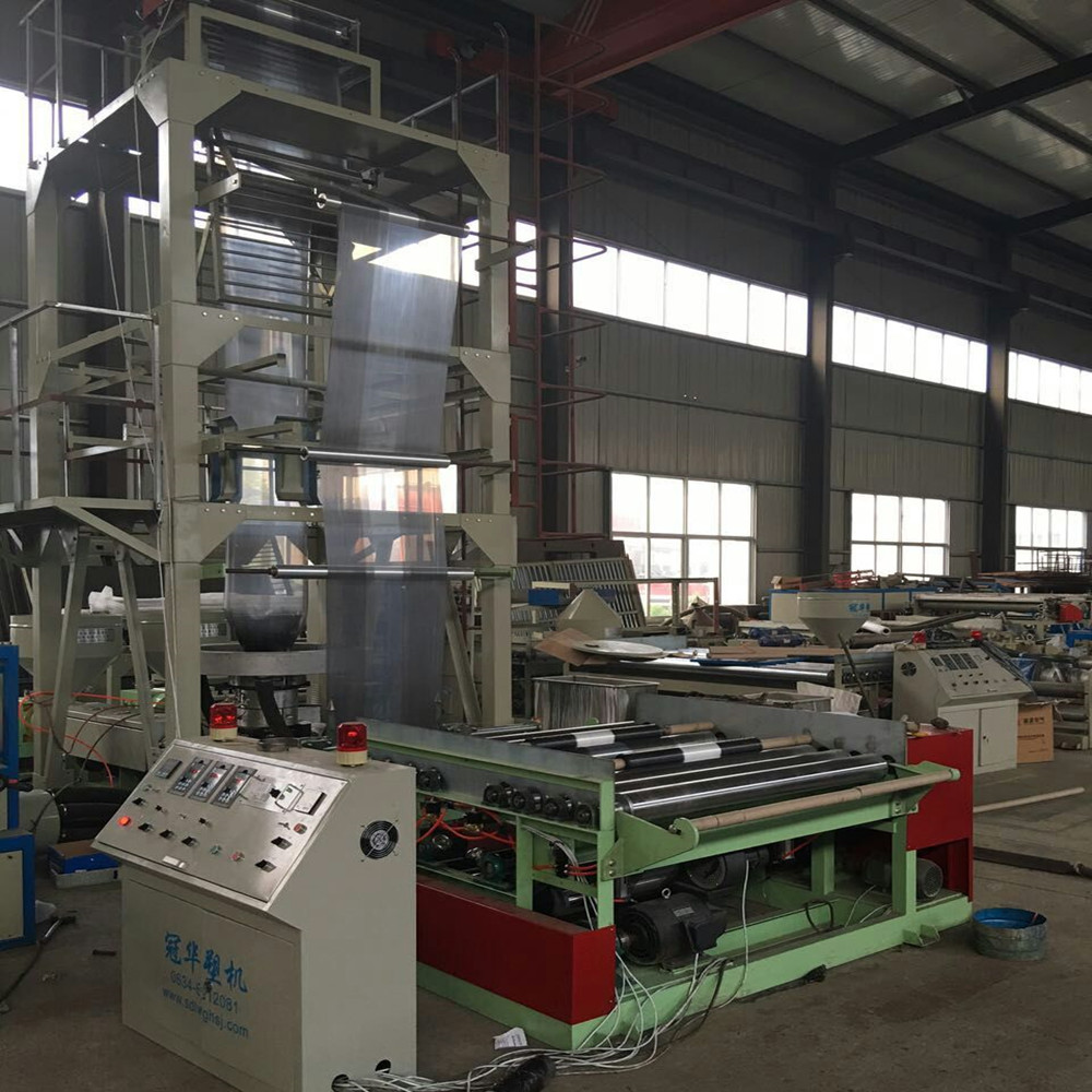 Two-color blown film extrusion machine/PE Double Stripped Colors Film Blowing Equipment