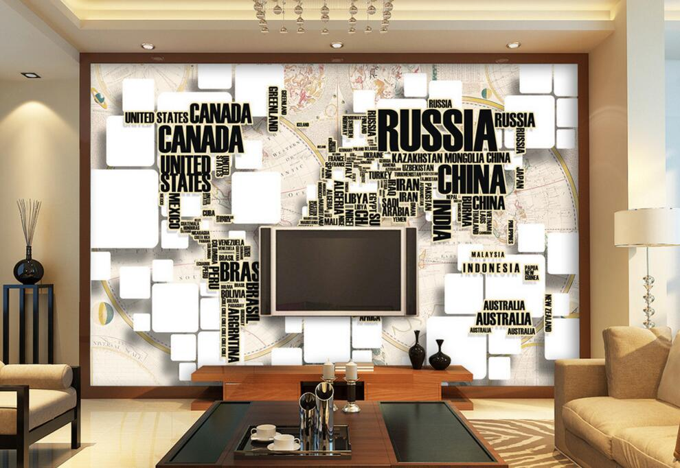 black and wihte design world map white button decoration <strong>wall</strong> 3d wallpapers world map 3d letter mural designer wallpaper