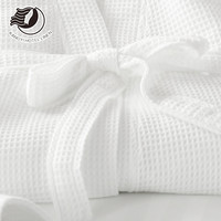 Luxury 100% Cotton Hotel Waffle/Terry Bathrobe For 5 Star Hotel