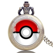 wholesale 2016 pokemon go cartoon pocket watches
