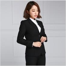 Korean style notch lapel modern business blazers suits women