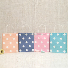 Round Dot Shopping Paper Bag For Festival