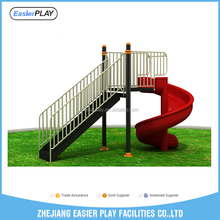 Cheap outdoor playground kids plastic spiral slide for sale