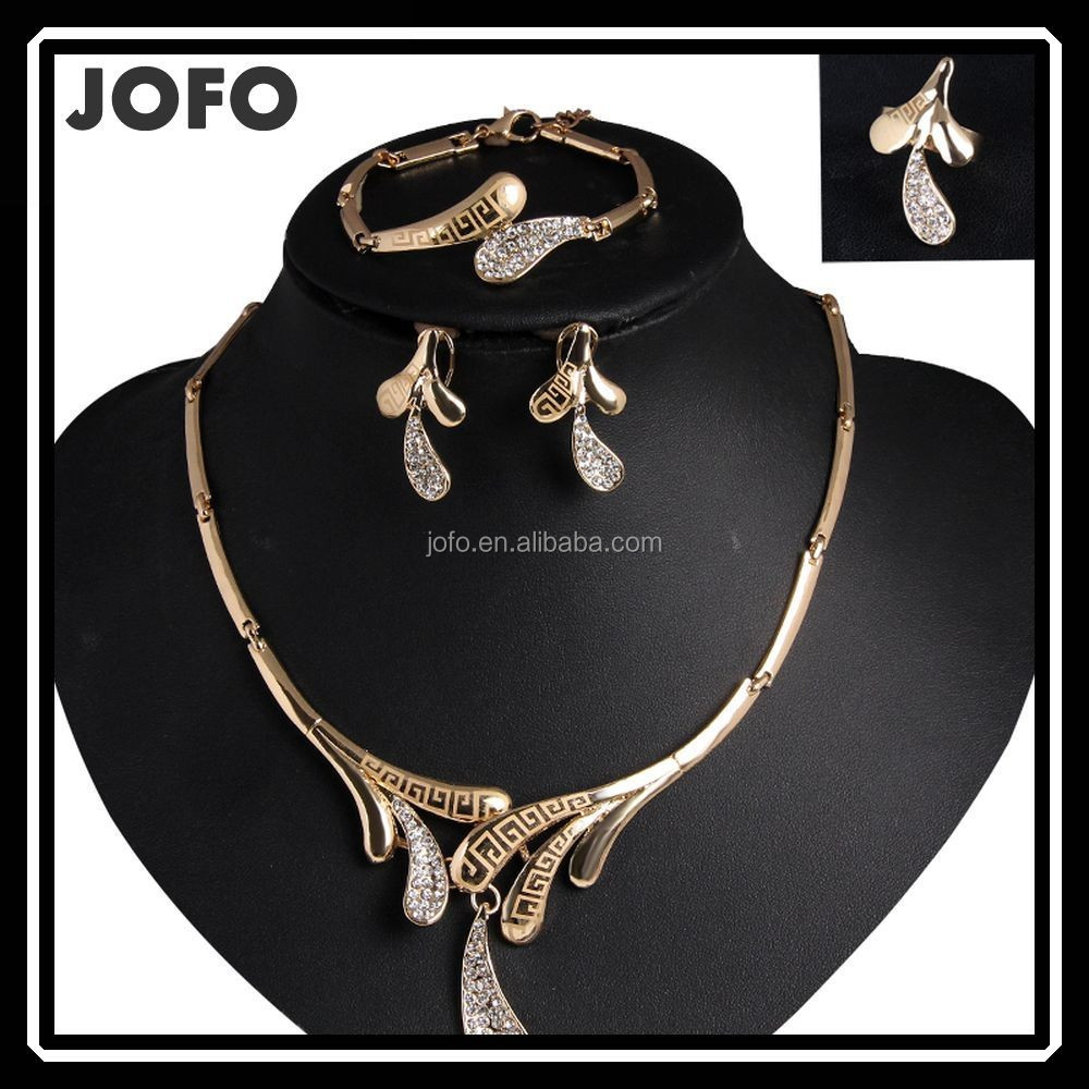 Wholesale African Costume Jewelry Set Jewelry Set For Wedding 18 Carat Gold Jewelry Sets