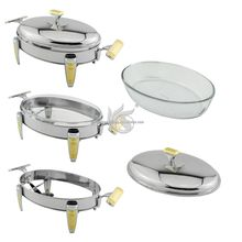 Hotel Equipment Stainless Steel Oval Food Warmer