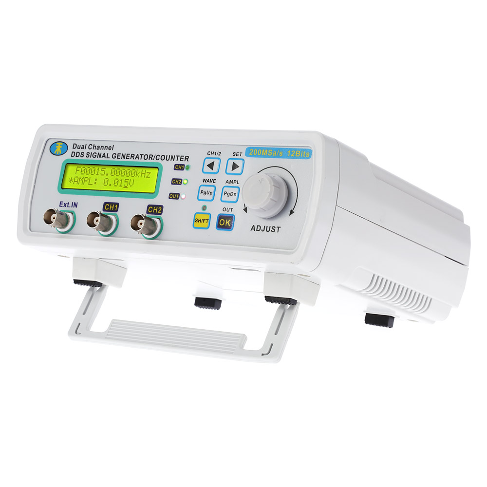 Digital DDS Function Signal Generator 2-channel frequency generator Meter Arbitrary Waveform 0-80KHz Signal source 200MSa/s12MHz