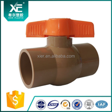 "DN20 3/4""x 3/4"" Female ANSI Thread Connection Two Way PVC Ball Valve Plumbing Water Supply Waste Treatment Irrigation"