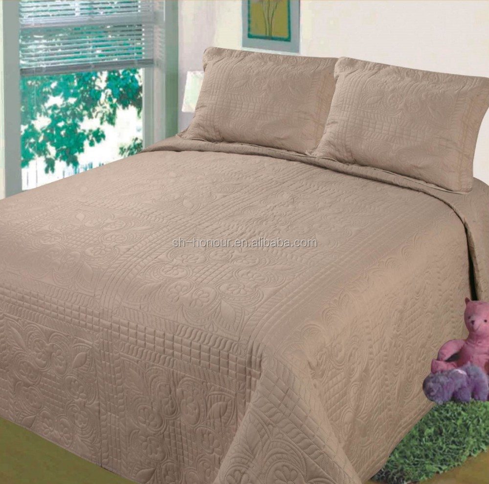 cheap dark brown polyester ultrasonic quilts for adult