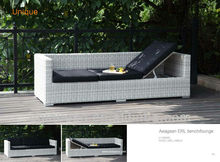 Aeagean sea ERL multi-use bench/lounge sun lounger