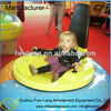 UFO kids amusement round battery inflatable bumper car with timer system