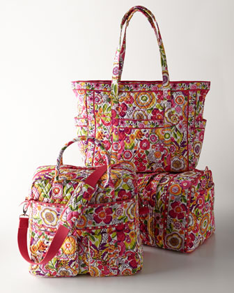 Quilted printing cotton travel bags