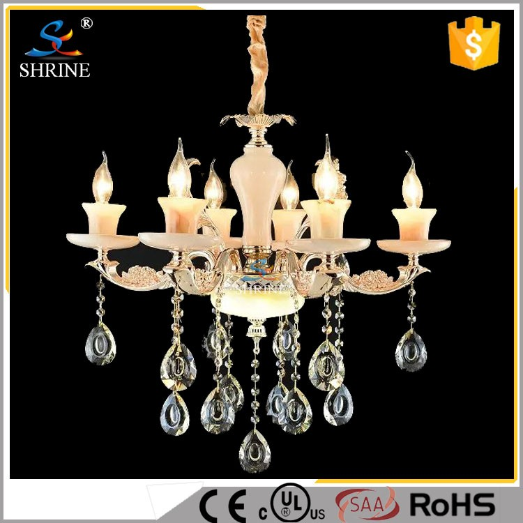 Antique Brass Candle Chandelier For Indian Distributor