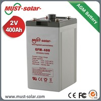 MUST 2V 3000ah Tubular Gel battery inverter battery for inverter backup system Deep Cycle Dry Solar Cell