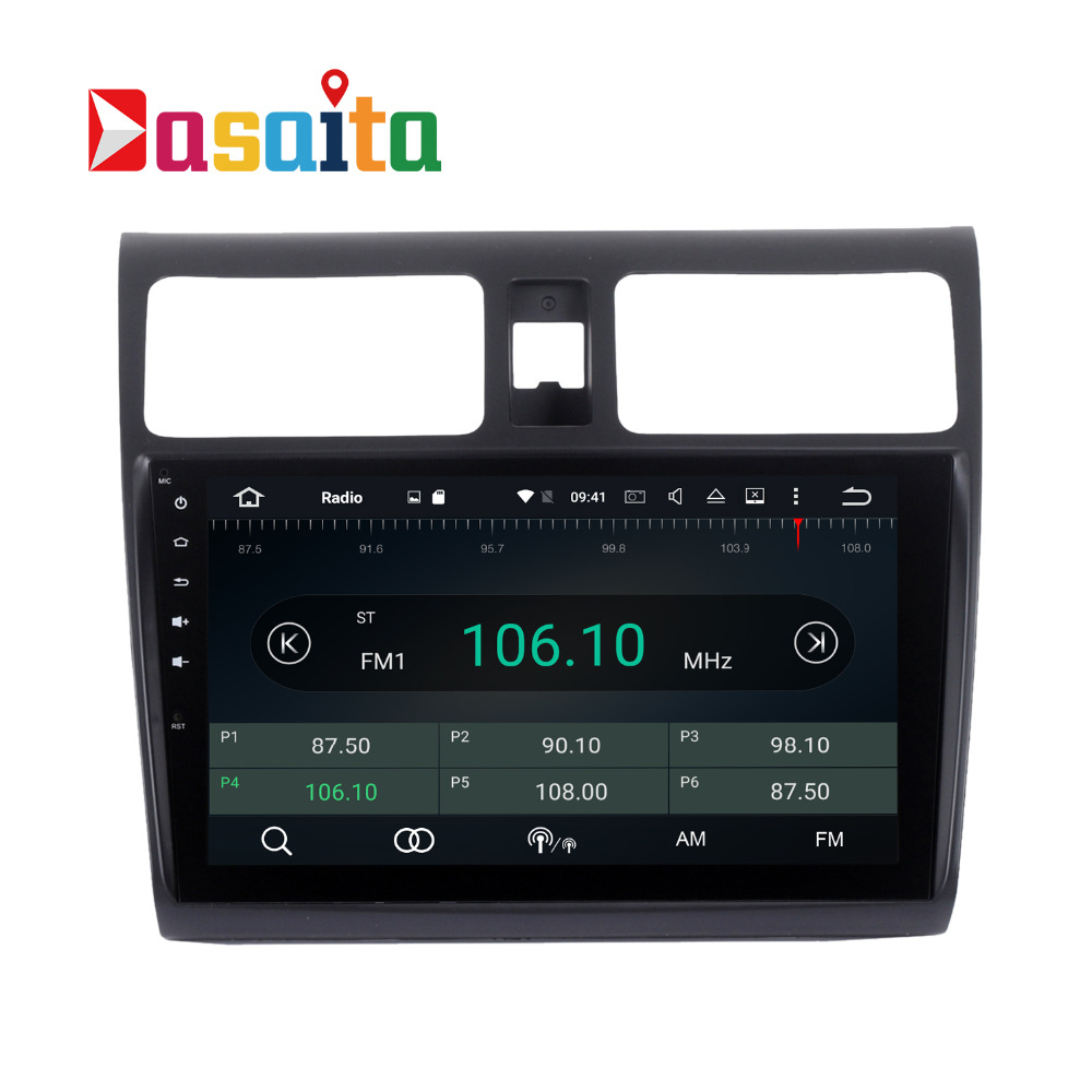 Dasaita 10.2'' Car GPS for Suzuki swift 2005-2010 With android 6.0 octa core 2G RAM No dvd Capacitive screen Stereo NAVI