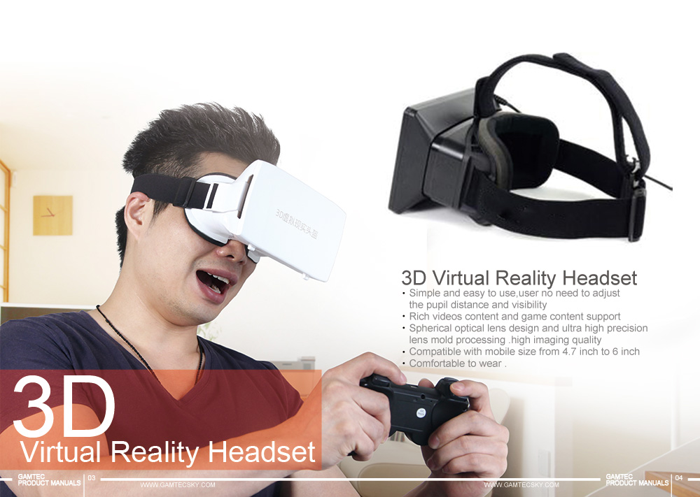 funny 3D vr glasses 3D virtual reality headset for vr