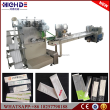 disposable Automatic Chinese Hot Airline fast food Catering Sanitary Tissue cutlery packing machine manufacture