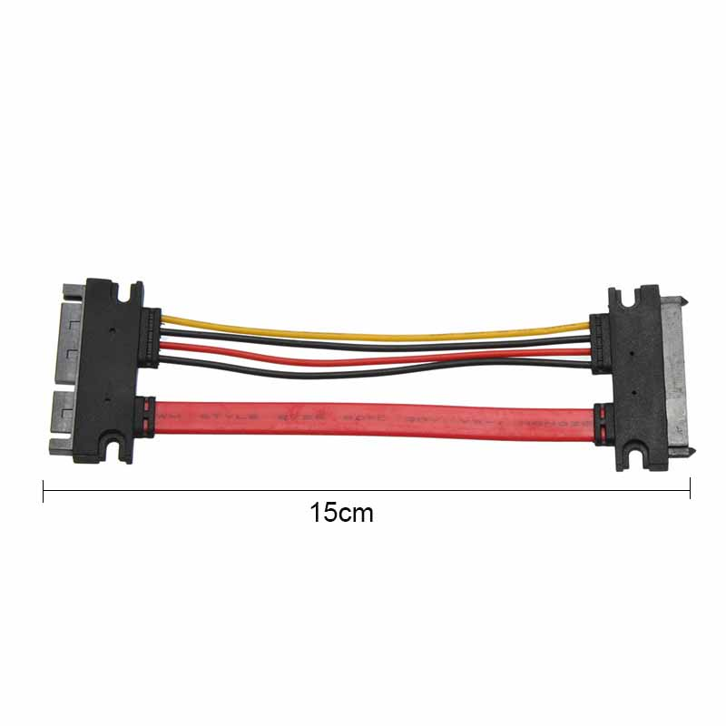 15cm 7+15Pin SATA Hard Drive Extension Cable Male to Female Serial ATA SATA Data Power Combo Extension Cable Connector Converter