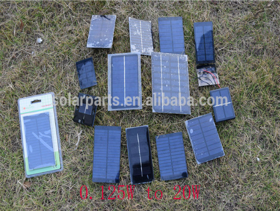 0.1-10W mini epoxy resin encapsulated solar modules for toys and science kids
