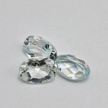 wholesale top quality natural loose gemstone white topaz for jewelry