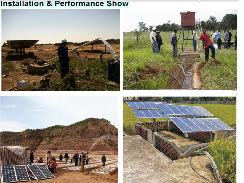 Easy installed 200w-30kw solar power water pump irrigation system for Africa market Agriculture