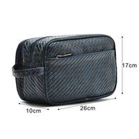 Boshiho pu cosmetic bag travel men leather toiletry bags