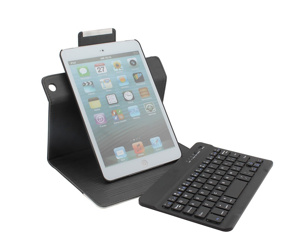Crocodile Pattern Keyboard Mini Rotation Bluetooth keyboard for IPad Mini-P3601