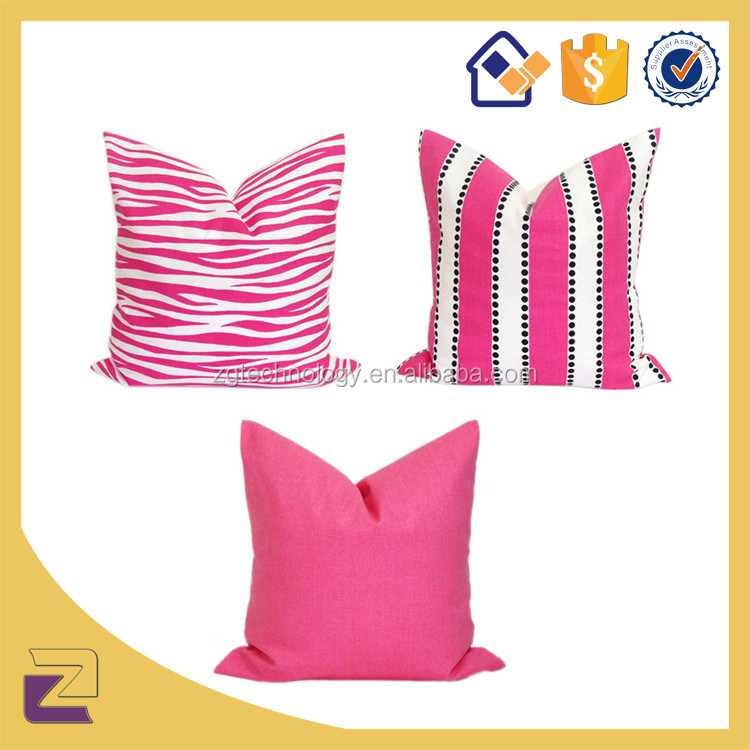 Wholesale Pink Zebra Geometric Cushion Cover Modern Home Decor Throw Pillow Case